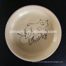 Bacia de animal de estimação cerâmica atraente