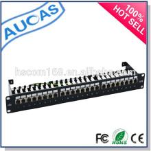 Precio al por mayor de la fábrica de China systimax cat6 24 panel de remiendo portuario / utp rj45 panel de remiendo 1U / panel de remiendo del montaje del estante