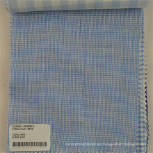 tela de lino a cuadros de tela de lino orgánica súper suave