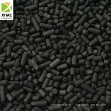 Charbon anthracite 3,0 mm faible teneur en cendres Charbon actif à base de charbon cylindrique pour récupération de solvants