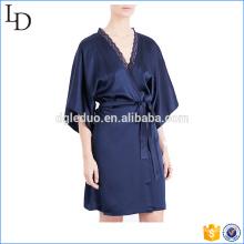 Élégant 2017 vente chaude satin robes sexy mode nuit robe de couchage