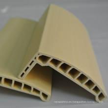 Arco WPC Architrave PVC Architrave perfil de puerta de PVC Laminado Architrave at-80h18