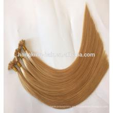 Pelo plano dibujado superior de calidad superior de la extremidad del pelo humano 2017 con precio al por mayor