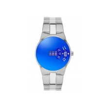 Japanese Quartz Watch with Disc Dial LED Watch