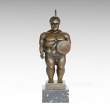 Soldaten Abstrakt Statue Fat Warrior Bronze Skulptur TPE-1001
