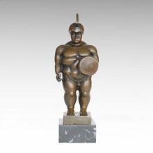 Солдаты Абстрактные Статуя Fat Warrior Бронзовая скульптура TPE-1001