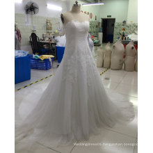 Aoliweiya Brand New Real Sample Bridal Wedding Dress with Lace