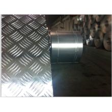 Folha em alumínio embutida com 5 barras