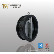 Válvula de retención de doble placa de acero al carbono