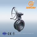 industrial pipe wcb cast carbon steel butterfly valve gearbox a395 ductile iron butterfly valve