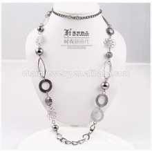 2014 Fashion cheap long necklace wholesale sweater chain for decoration NK001