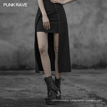 OPQ-601 PUNK RAVE 2020 New Arrivals Black Gothic Irregular Long Dress Fake Two Pieces Casual Dresses Maxi Standard Loose Adults