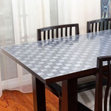 Dining room frosted pvc tablecloth