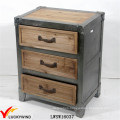 Unique Living Room Organizer Antique Wood 3-Drawers Storage Cabinet