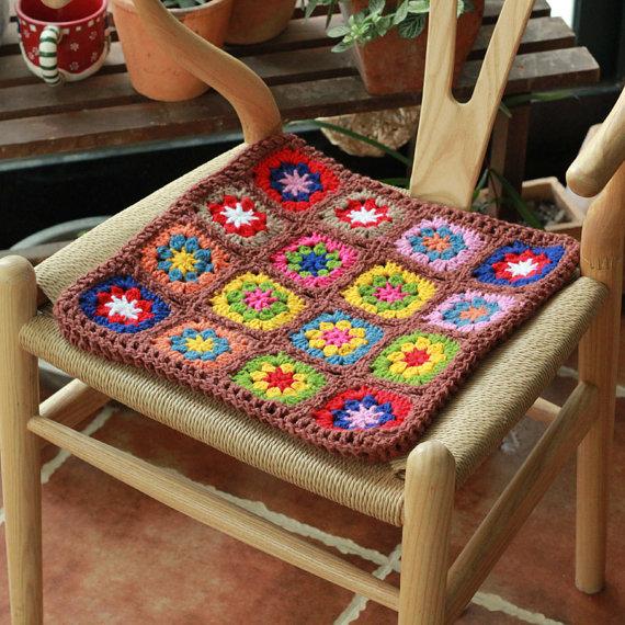 Вязание сидушки для стульев 192