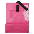 Cheap Pink Luxury Ribbon Handles Sacos de papel de pedra