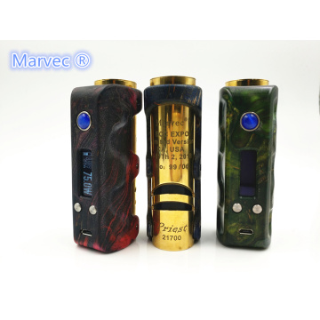 Marvec Priest 21700 DNA75 TC estabilizado vape de madera
