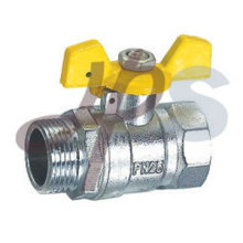 válvula de gas de latón con mango de aluminio
