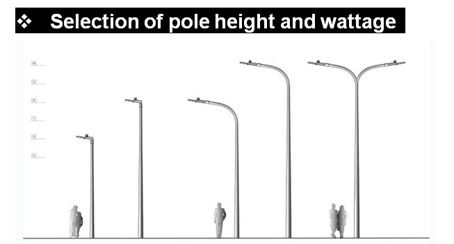 led street light pole height