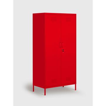 Rote Metall-Standschränke zum Verkauf