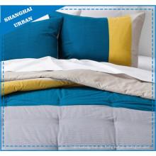 Color Shade & Streifen bedruckte Polyester Quilt Cover Set