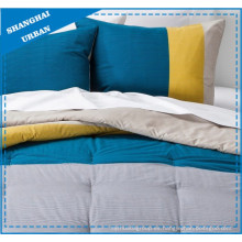 Color Sombra y rayas impresas poliester Quilt Cover Set