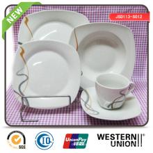 Square Shape Ceramic Dinnerset en 30PCS