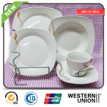 Forma quadrada Cerâmica Dinnerset em 30PCS