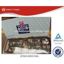 YUCHAI engine overhaul gasket set, overhaul gasket kit B7600-9000100A