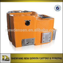 Customized oil drilling machinery parts alloy steel sand casting with machining and painting
