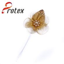 Flores artificiais de cor de ouro de alta qualidade importadas da China