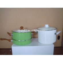 clean mirror face enamel cooking pot sets