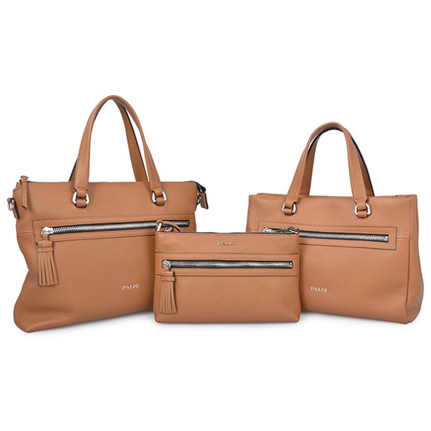 elegant cow leather women business hand bag office lady tote bag with long strap