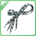 Polyester Fabric Colorful Shoelaces with Plastic Clip