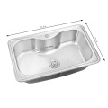 HOT SALE DEEP DRAWN IRREGULAR SHAPE TABLE TOP STAINLESS STEEL WATER KITCHEN SINK