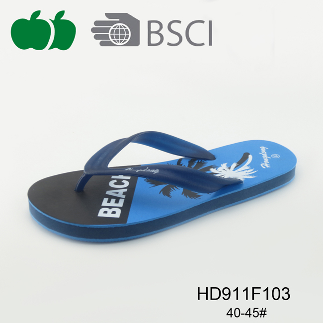 Men Summer Flat Outdoor Beach Printed Flip Flop