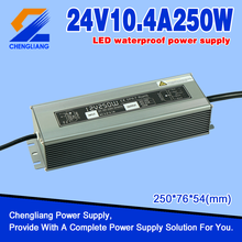 24V 10A 250W IP67 waterdichte LED-driver