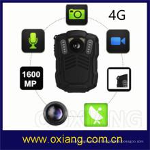 Cámara de vídeo llevada cuerpo de la policía de la prenda impermeable HD 1080P de 4G 3G WiFi GPS GPS