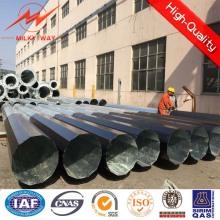 15m galvanizado aço polos octogonais