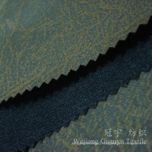 Compound Leather Fabric 100% Polyester with Bronzing Treatment
