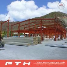Entrepôt industriel adapté aux besoins du client de structure métallique de conception d'installation facile