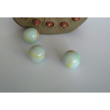 Three Flower Glass Marbles for Children's Games