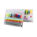 Farbige alles- Gute zum Geburtstagbuchstabe-Form-Geburtstags-Kerze