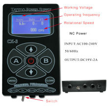 CX-3 tattoo power supply in black for make up