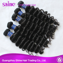 Black Virgin Deep Wave Human Hair Weave
