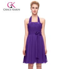 Grace Karin impresionante gasa corto de la dama de honor de la ocasión especial de los vestidos patrones CL2290-6
