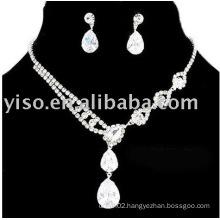 bridal jewelry, rhinestone jewelry set, wedding jewelry