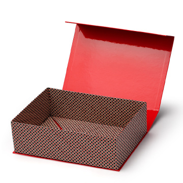 Custom Red Luxury Folding Paper Box med magnet
