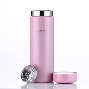 Из нержавеющей стали вакуумные чашки розовый вакуум термос бутылка воды ВПВ-200С