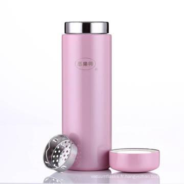 Bouteille d'eau de voyage rose de tasse de vide de tasse d'aspirateur d'acier inoxydable SVC-200c